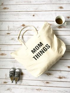 Mom Things Tote  Tote Bag For Mom  Mom Tote Bag by RightHereatHome