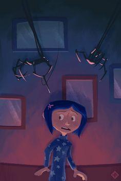 Coraline by Clayton Nguyen Coraline Tumblr, Coraline Quotes, Coraline Movie, Tim Burton Art, Tim Burton Films, Coraline Drawing, Another Misaki Mei, Coraline Aesthetic, Dragons