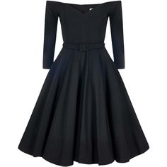 Collectif Mainline Rachel Doll Dress ($7.20) ❤ liked on Polyvore featuring dresses, baby doll dress, doll dress, rockabilly dresses, babydoll dresses and vintage style dresses