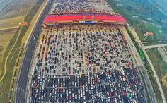 (6) High way entrance towards Beijing looks like a super crowded parking lot - Imgur