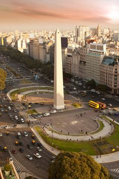 Buenos Aires, Argentina - this is the of July ave one of the widest streets in the world. The Obelisk one of many monuments in this very beautiful city. Places Around The World, Travel Around The World, The Places Youll Go, Places To See, Around The Worlds, Largest Countries, Countries Of The World, Argentine Buenos Aires, Wonderful Places