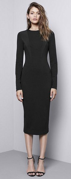 Without the collar, the dress is perfect for after work drinks...