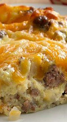 Impossibly Easy Cheeseburger Pie ~ Bake the magic of a cheeseburger in pie form—it's impossibly easy!