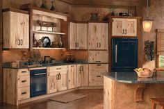 Mendocino rustic maple natural w/ chestnut accents - Medallion Cabinetry