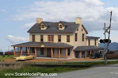 Cookstown New Jersey Tavern model railroad building in HO scale