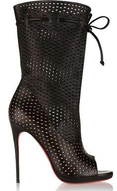 """Christian Louboutin Spring 2015 """"Jennifer"""" perforated leather boot."""