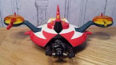 Vintage Grendizer UFO with Robot and Missile diecast toy made in Japan