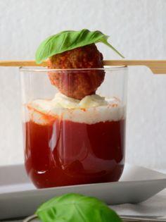 Tomatensuppe im Glas