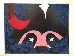 Expositie Spiegelbeeld | 9 januari t/m 13 februari 2016 | Kunstwerken van diverse jonge talentvolle grafici | Kristi Neider - The deep deep sea | Linosnede en houtdruk €320,00| www.baxkunst.nl | #baxkunst #expo #art #graphicart #contemporaryart #dutchartist #localart #gallery #Sneek #Holland