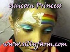 unicorn princess face painting
