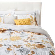 Felicity Pleated Floral Duvet Cover Set : Target