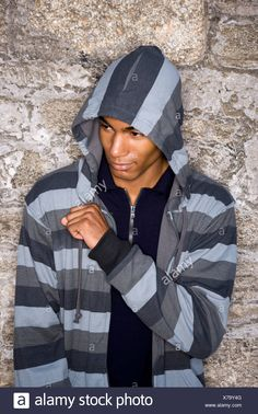 7751b08b Download this stock image: Handsome stylish young African-American man  wearing hoodie - X79Y4G from Alamy's library of millions of high resolution  stock ...