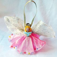 Clothespin Angel Ornament by @amandaformaro