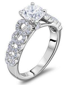 Beautiful Diamond Engagement Rings! #myfauxdiamond #engagementring #diamond #jewelry  Scott Kay