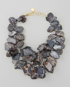 I discovered this Black Chunky Jasper Necklace | Neiman Marcus on Keep. View it now.