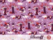 ♥ lillestoff - Bio Jersey LITTLE WITCHES flieder ♥