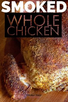 Looking for an easy smoked whole chicken recipe? You definitely want to check this out! It starts with a simple beer brine, and ends with moist, tender, and flavorful chicken. #traegerrecipes #pelletgrill #bbq #smokedchicken Smoked Chicken Recipes, Smoked Whole Chicken, Stuffed Whole Chicken, Chicken Flavors, Smoked Chicken Injection Recipe, Smoked Chicken Brine, Brining Chicken, Chicken Giblets, Gastronomia