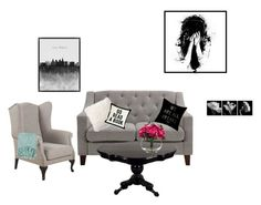"""""""Black▪️"""" by lnt-torp on Polyvore featuring interior, interiors, interior design, home, home decor, interior decorating, Dorel Asia, Pottery Barn and Lux-Art Silks"""