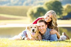 Engagement session with their sweet dog | Virginia Wedding Photographer | Aaron Watson Photography www.aaronwatsonphoto.com