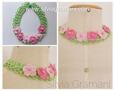 Silvia Gramani Crochet: Pearl Necklace