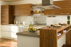 Armoires de cuisine de style moderne.