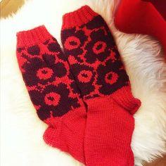 Knitting Socks, Knitting Ideas, Marimekko, Knit Crochet, Slippers, Photo And Video, Sewing, Crafts, Instagram
