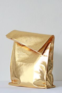 Golden lunch bag