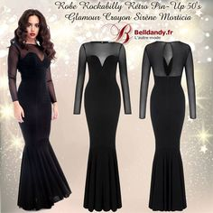 Robe Rockabilly Rétro Pin-Up 50s Glamour Crayon Sirène Morticia  http://www.belldandy.fr/robe-rockabilly-retro-pin-up-50-s-glamour-crayon-sirene-morticia.html https://www.facebook.com/belldandy.fr/photos/a.338099729399.185032.327001919399/10154579119404400/?type=3