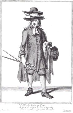 """""""Old Cloaks Suits or Coats"""" from """"Cryes of the City of London Drawne after the Life"""" by Marcellus Laroon (1687)"""
