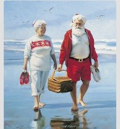 Santa and Ma Summer Vacation !