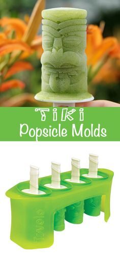 These tiki pop molds make the coolest boozy treats! Perfect for your next luau party or Frozen Mai Tai!
