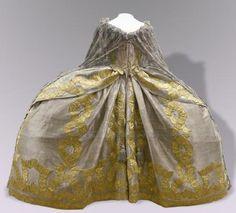 Coronation Dress of Empress Elizaveta Petrovna   Russia   1742   silk, gold lace   Kremlin State Historical & Cultural Museums
