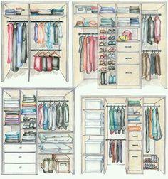 Tipos de armários organizados.                                                                                                                                                                                 Más