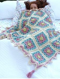 Granny Square Throw   Yarn   Free Knitting Patterns   Crochet Patterns   Yarnspirations