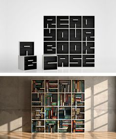 Despite the advent of e-books, many of us still value the tactile experience of flipping through a paper book. These creative bookshelves, then, are the perfect places to store our collections of little literary treasures. Bookshelf Bench, Hanging Bookshelves, Tree Bookshelf, Creative Bookshelves, Bookshelves Built In, Table Shelves, Bookshelf Design, Bookcase, Bookshelf Ideas