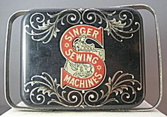 Vintage Singer Sewing Machine Tin