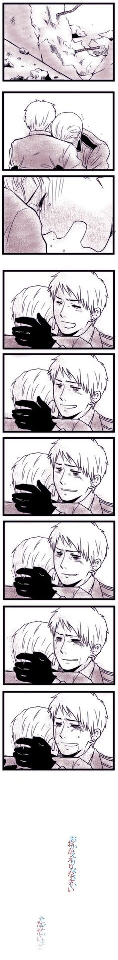The reunion of Prussia and Germany when the Berlin Wall was gone ;-;<< See that? There goes my heart