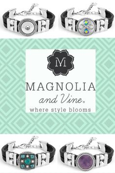One bracelet but so many choices in a SNAP!  Click the link:  http://www.mymagnoliaandvine.com/4078/