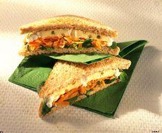 Käse-Sandwich mit Möhrensalat