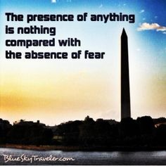 Fear #travelquotes