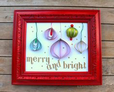 DIY framed glittered paper holiday ornaments Michaels Holiday Pinterest Party