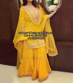 Shop salwar suits online for ladies from BIBA, W & more. Explore a range of anarkali, punjabi suits for party or for work. Pakistani Couture, Pakistani Bridal Dresses, Pakistani Dress Design, Pakistani Outfits, Indian Dresses, Indian Outfits, Sharara Designs, Lehenga Designs, Sarara Dress