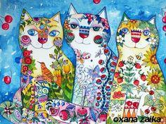 """""""Trois chats"""" par Oxana Zaika"""