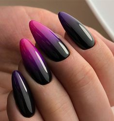 Trendlack: 20 Farben des Nagellack-Trends 2018 – Paznokcie, You can collect images you discovered organize them, add your own ideas to your collections and share with other people. Black Nail Designs, Acrylic Nail Designs, Stylish Nails, Trendy Nails, Cute Acrylic Nails, Cute Nails, Hair And Nails, My Nails, Nagellack Trends