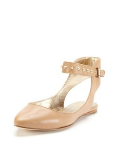 Every girl needs a nude flat. And this with an edge! I have it and love it. Verita Pointed-Toe Flat by Belle by Sigerson Morrison at Gilt
