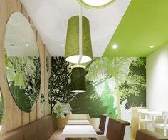 Wienerwald restaurant in gets forest-inspired interiors