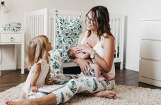Mommy & Me Leggings and Matching cloth diaper accessories! #clothdiapers