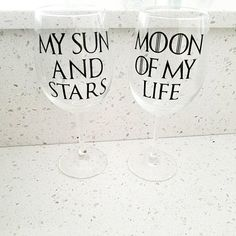 Game of Thrones inspired barware l My Sun and Stars l Moon of