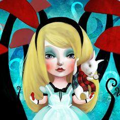 Alice in Wonderland Fairytale beauties series by Lisa Falzon