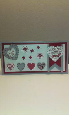 Karte Valentinstag, Hearts a flutter, Framelits, Banner, Stampin' UP!, Petite Petals, Valentines Card, Itty Bitty.